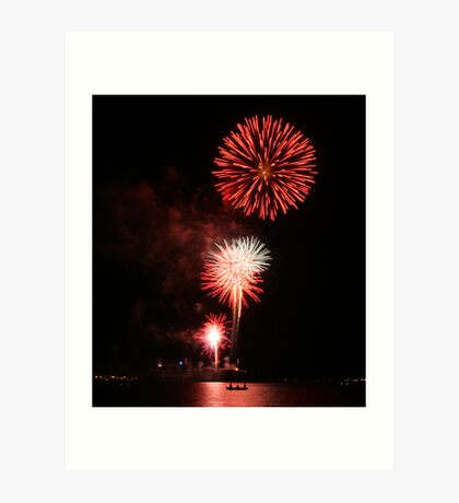 fire in the sky on the 4th of July Art Print