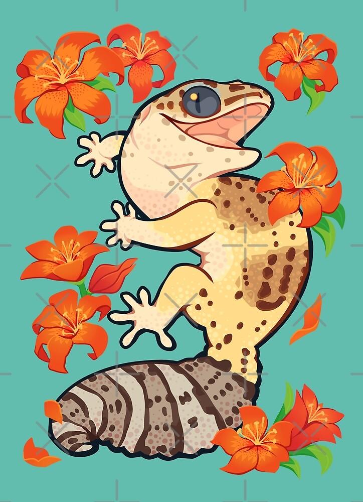 «Gecko de lirio de fuego» de Colordrilos
