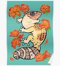 Fire lily gecko Poster