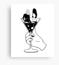 Cocktail Girls Canvas Print