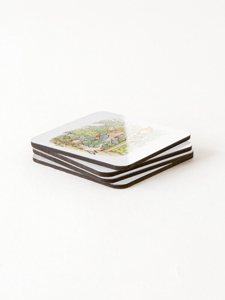 Alternate view of Peter Rabbit Steals Carrots Coasters (Set of 4)