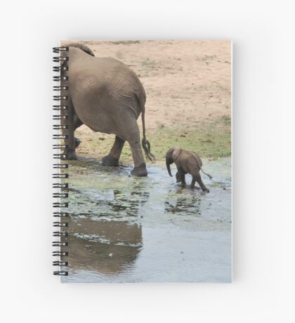 WHEE ARE WE GOING MOM - THE AFRICAN ELEPHANT – Loxodonta Africana Spiral Notebook