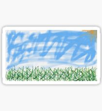 Imagined landscape abstract impressionism Sticker