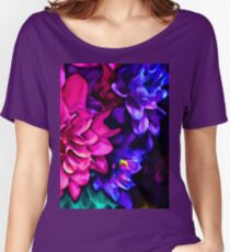 Pink Flower with Purple Flowers and some Blue Women's Relaxed Fit T-Shirt