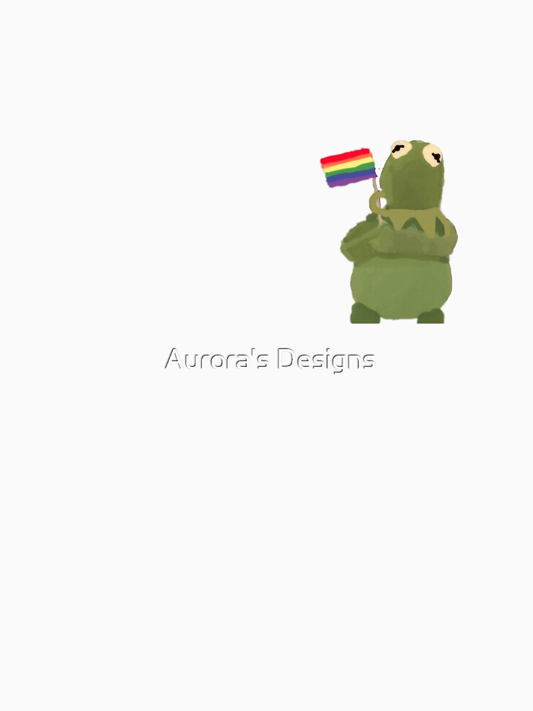 kermit the frog with gay flag