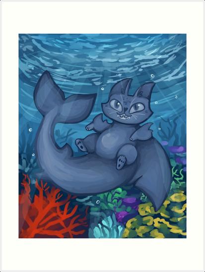 Sharkitty by adorkablyfeline