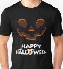 Happy Halloween Jack O'Lantern Face Unisex T-Shirt