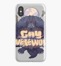 gay werewolf iPhone Case/Skin