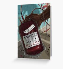 Sinister Grin Press A Mixed Bag of Blood Greeting Card