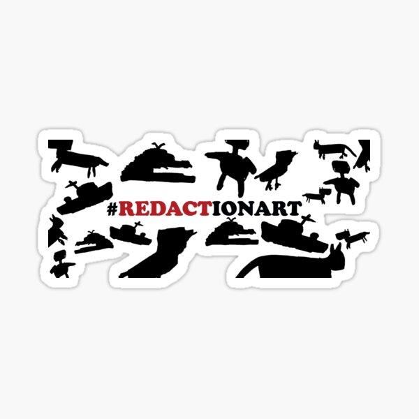 #Redactionart Sticker