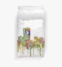 Boston, Massachusetts Skyline - SG - Faded Glory Duvet Cover