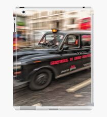 London Cab in motion iPad Case/Skin