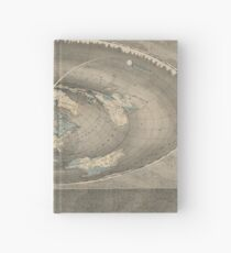 Flat Earth Map Hardcover Journal