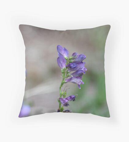 Purple Flower Throw Pillow