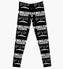 English Teachers Get Lit Funny Literature Leggings
