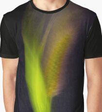 Fleur Blur-Abstract Bristle Grass Graphic T-Shirt