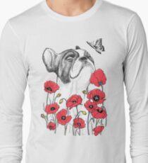 Pug in flowers Long Sleeve T-Shirt