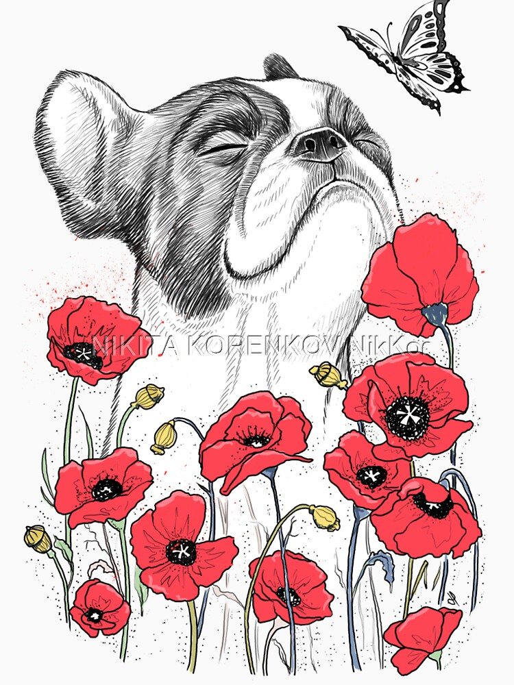 Pug in flowers von NikKor