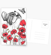 Pug in flowers Cartes postales