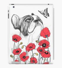 Pug in flowers iPad Case/Skin