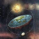 Flache Erde im Weltraum von C. C. Barrett