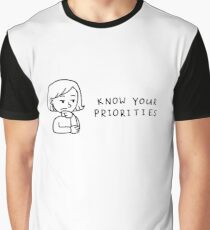 Know Your Priorities Cartoon Graphic T-Shirt