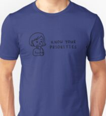 Know Your Priorities Cartoon T-Shirt