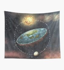 Flat Earth In Space Wall Tapestry