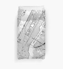 Funda nórdica Mapa blanco de Nueva York