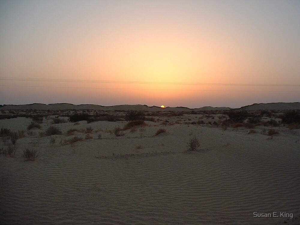Sunset over the Sahara by Susan E. King