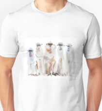 Watercolor portrait of monkeys T-Shirt