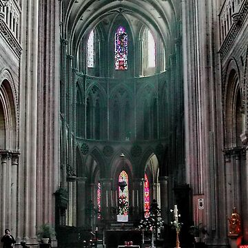 A Ray of Light, Bayeux Cathedral, From the Doorway by AnnDixon
