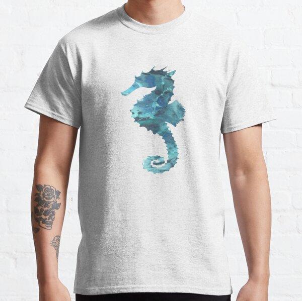 Pink Seahorse Maternity T-Shirt Beach Ocean Surf Sea Sand Coral MEDIUM M Tee