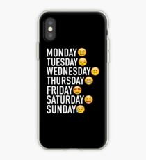 Moods of the Week Expressed Through Emojis iPhone Case