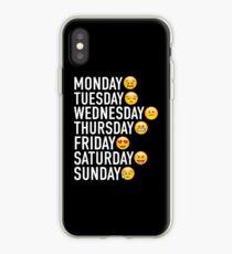 Stimmungen der Woche ausgedrückt durch Emojis iPhone-Hülle & Cover