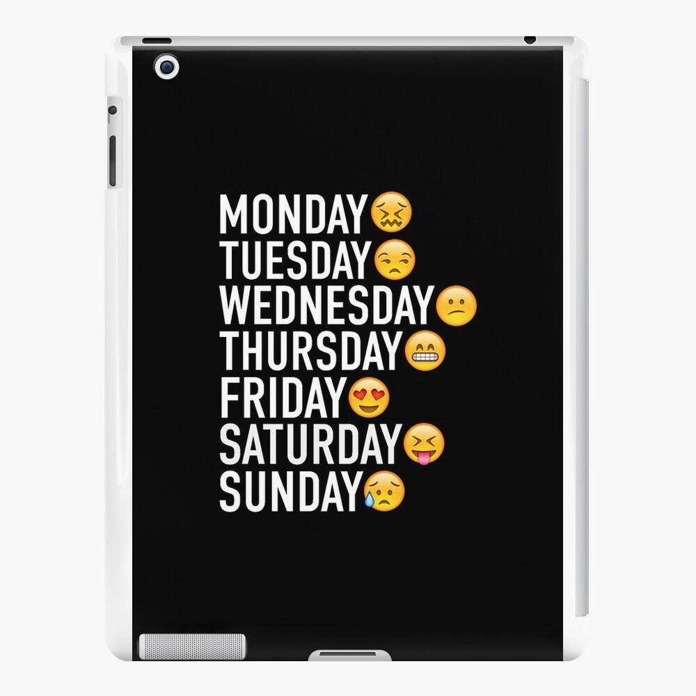 Stimmungen der Woche ausgedrückt durch Emojis iPad-Hüllen & Klebefolien