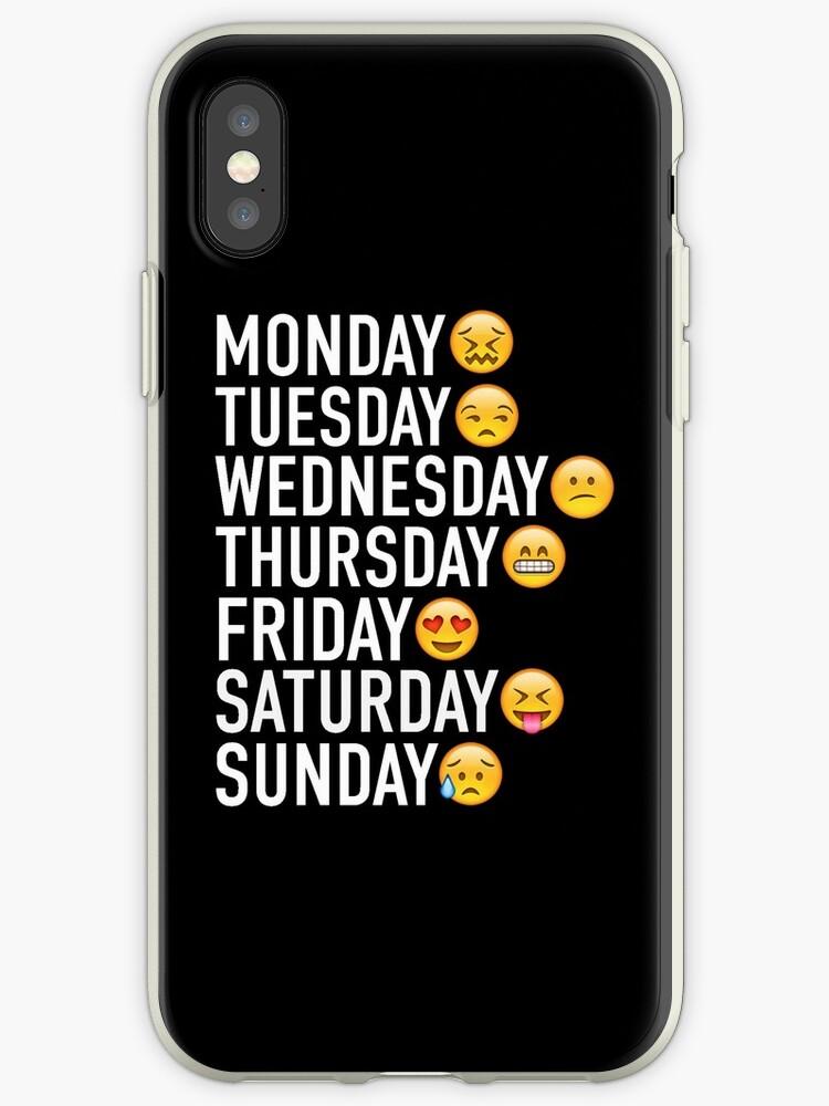 «Los estados de ánimo de la semana expresados a través de Emojis» de FullTimeFangirl