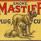 Mastiff Plug Cut Vintage Advertising by Michael  Bermingham