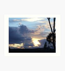 """Winter Sunset"" - Gungahlin (Australian Capital Territory)  Art Print"