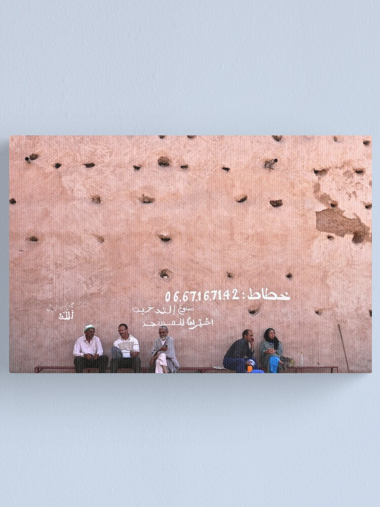 Alternate view of the wall of the medina Canvas Print