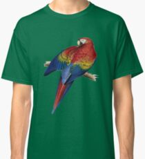Illustration of A Scarlet Macaw Vector Classic T-Shirt