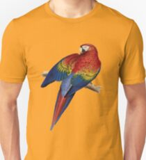 Illustration of A Scarlet Macaw Vector Unisex T-Shirt