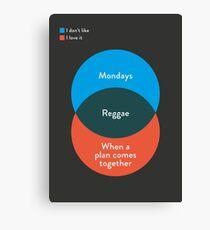 I don't like Reggae, I love it Canvas Print