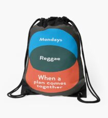 I don't like Reggae, I love it Drawstring Bag