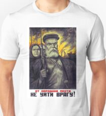 Armed grandpa with his angry spouse, Soviet propaganda poster T-Shirt