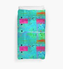 Fire Truck and Train Textures Duvet Cover