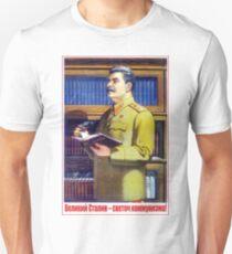 Great Stalin - the light of communism! Soviet propaganda poster T-Shirt