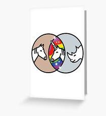 Horse + Rhino = Unicorn Greeting Card