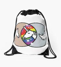 Horse + Rhino = Unicorn Drawstring Bag