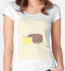 Cheese, Cake... Cheesecake Women's Fitted Scoop T-Shirt